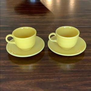 Fiesta 2 piece tea set—sunflower